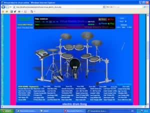 virtual electric drum online blues. Black Bedroom Furniture Sets. Home Design Ideas