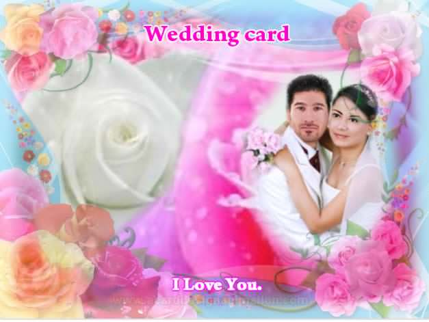 Wedding card make use background is a rose Or your background